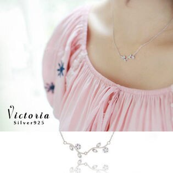 Victoria:S925純銀造型時尚設計感高質感鎖骨鍊-維多利亞1605127