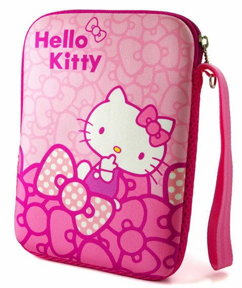 [NOVA成功3C]Hello Kitty SKN-533 精典彈膠型筆電保護袋KT-蝴蝶結紅-7吋  喔!看呢來