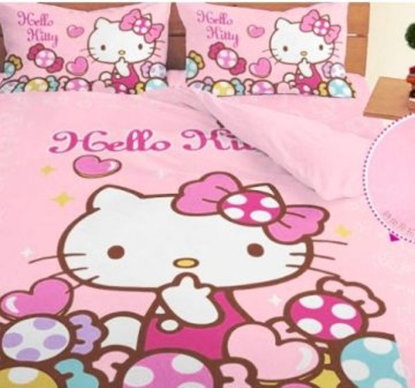 LUST寢具 【Hello Kitty 彩虹糖樂園-粉】床包/枕套/被套、日本卡通授權、台灣製