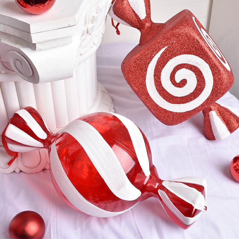 圣誕節裝飾場景布置擺件掛件DIY糖果商場  免運