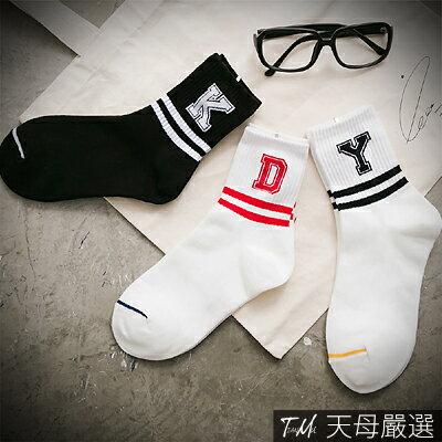 【天母嚴選】正韓-潮流運動風棉質短襪(共三色)