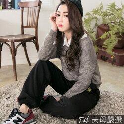 【天母嚴選】星星圖案內刷毛縮口棉褲(共三色)