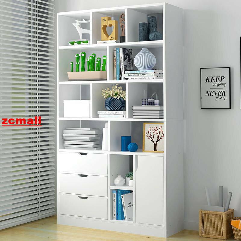 【全館免運】組裝書櫃 書櫃 書架簡易學生木質書柜收納柜多層多功能落地儲物架臥室置物架