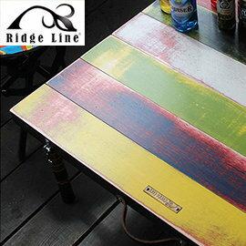 【【蘋果戶外】】Ridge Line 韓國 手作復古彩虹桌 攜帶方便/折疊桌/小茶几/置物桌