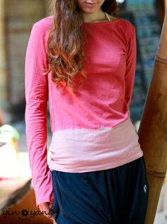 Yin Yang Yoga:【Bali】經典草木染長袖T恤瑜珈服