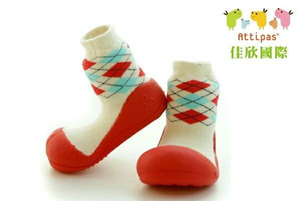 【平均1雙只要495】韓國【Attipas】快樂腳襪型學步鞋(PA菱格紋系列)