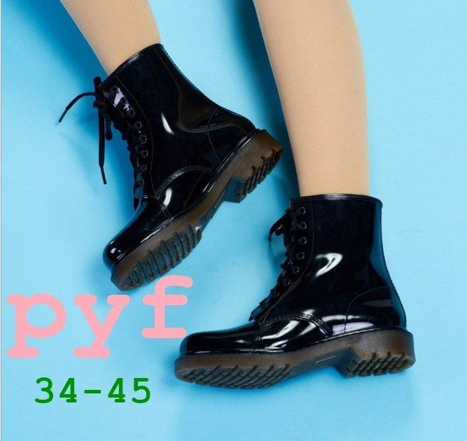 Pyf ♥ 熱賣防滑雨靴 8孔馬丁防水大碼雨鞋 情侶款加大42 43 44 大尺碼女鞋