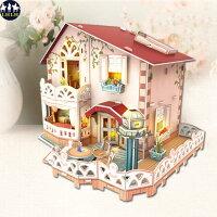 益智拼圖推薦到聖誕禮物 娃娃屋 生日禮物 立體拼圖 度假別墅就在LHLH休閒品牌推薦益智拼圖