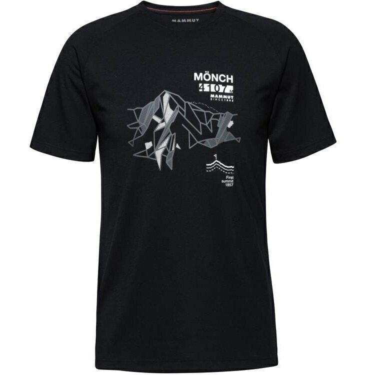 Mammut 長毛象 Mountain T-Shirt 男款圓領短袖T恤 1017-09846 0001 黑