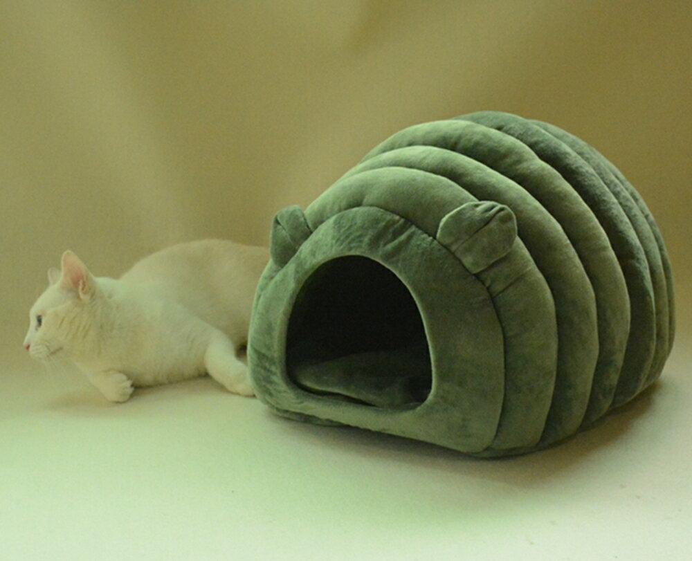 創意狗窩半封閉貓窩冬天保暖ins窩房子貓窩深度睡眠貓咪睡袋別墅WD   夏洛特居家名品