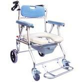 永大醫療~杏華107-WS-A1鋁和金四輪收合便器椅/洗澡椅
