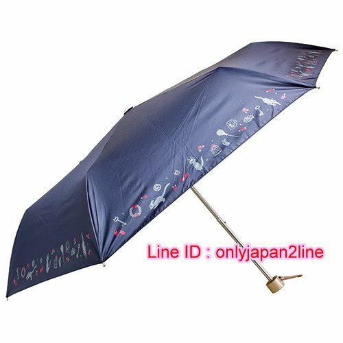 真愛日本:【真愛日本】16110300008晴雨兩用收納折傘-JIJI藍魔女宅急便黑貓奇奇貓陽傘雨傘正品