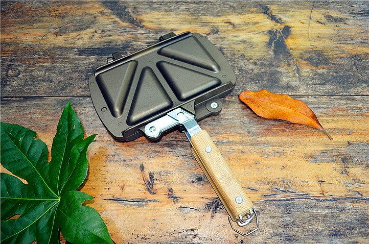 【露營趣】中和 折疊式三明治烤盤 吐司烤夾 烤吐司夾 烤盤 鬆餅夾 雞蛋糕 烤麵包夾 tnr-015