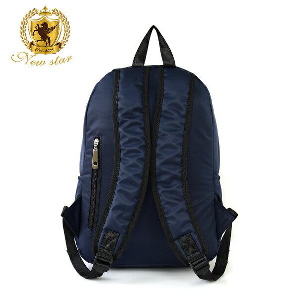 日系簡約防水撞色拉鍊口袋後背包包 NEW STAR BK242 3