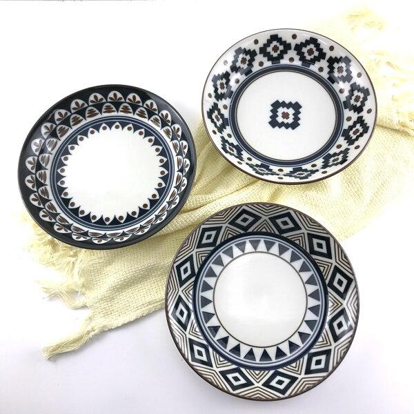 |現貨特價|日本製圖騰輕量8吋湯盤|陶瓷餐盤|現貨|