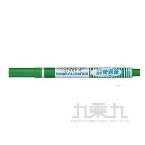 雄獅No.600酒精性奇異筆 - 綠