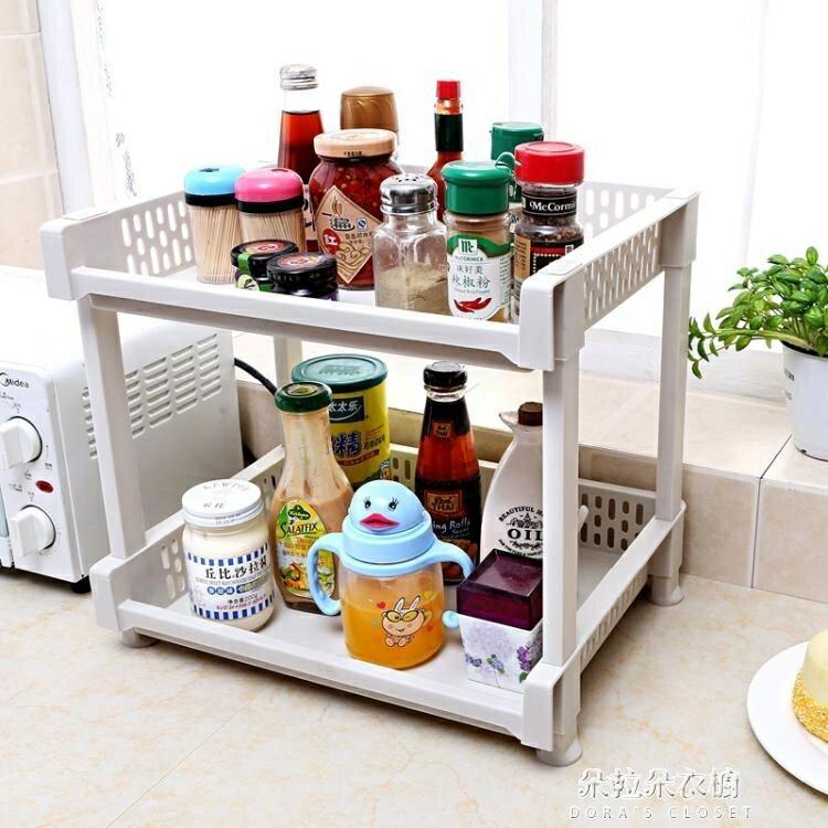居家用品 置物架 廚房置物架帶輪行動落地收納架子衛生間浴室儲物架多層桌面收納架 免運