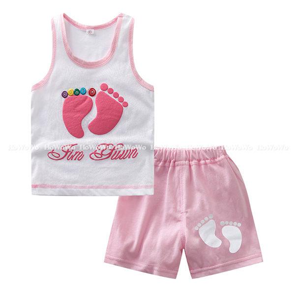 嬰幼兒短袖套裝 背心上衣T恤+短褲 童裝 AIY052-1 好娃娃