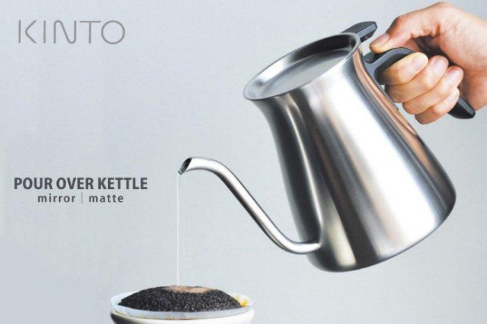 【沐湛咖啡】2017新款 日本 KINTO 不銹鋼霧面900ml 不鏽鋼咖啡壺 手沖壺 細口壺 高質感霧面