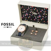送女生聖誕交換禮物到FOSSIL美國品牌Jacqueline經典復古羅馬限量精裝組ES4140SET公司貨/禮物