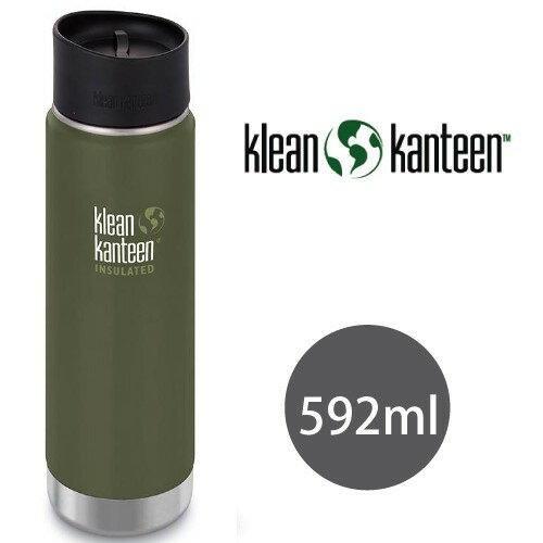【【蘋果戶外】】KleankanteenK20VWPCC-FP橄綠【寬口20oz592ml】美國不鏽鋼水瓶原色休閒水壺自行車水壺