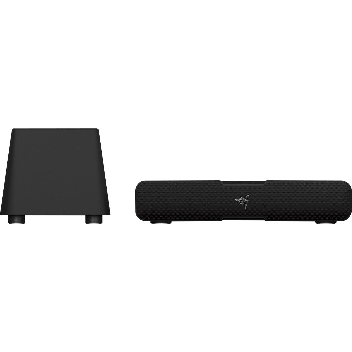 Razer Leviathan 5.1 Speaker System - 60 W RMS - Wireless Speaker(s) - Black - 20 Hz - 20 kHz - 32.8 ft - Dolby Digital, Dolby Virtual Speaker, Dolby Pro Logic II - Bluetooth 1