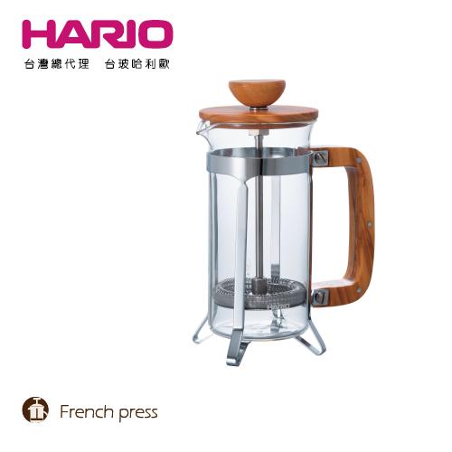【HARIO】橄欖木濾壓咖啡壺300 / CPSW-2-OV