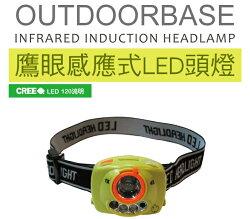 【野道家】Outdoorbase LED。鷹眼 輕巧感應式頭燈 露營燈 21720