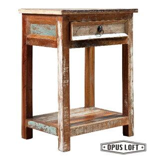 純真年代Opus Loft:仿舊LOFT復古工業風環保木單抽床邊櫃