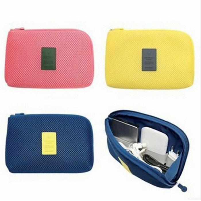 糖衣子輕鬆購【DZ0026】韓國3C行動電源防震數據線耳機線大容量收納包化妝包