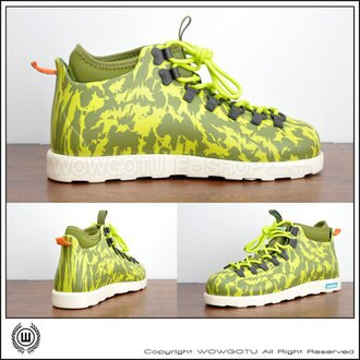 NATIVE SHOES - FITZSIMMONS - JUICE GRN/CHRTRS GRN (313)