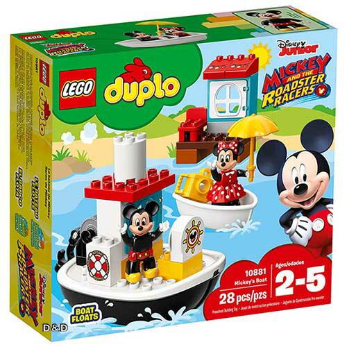 樂高積木LEGO《LT10881》2018年Duplo得寶系列-Mickey'sBoat