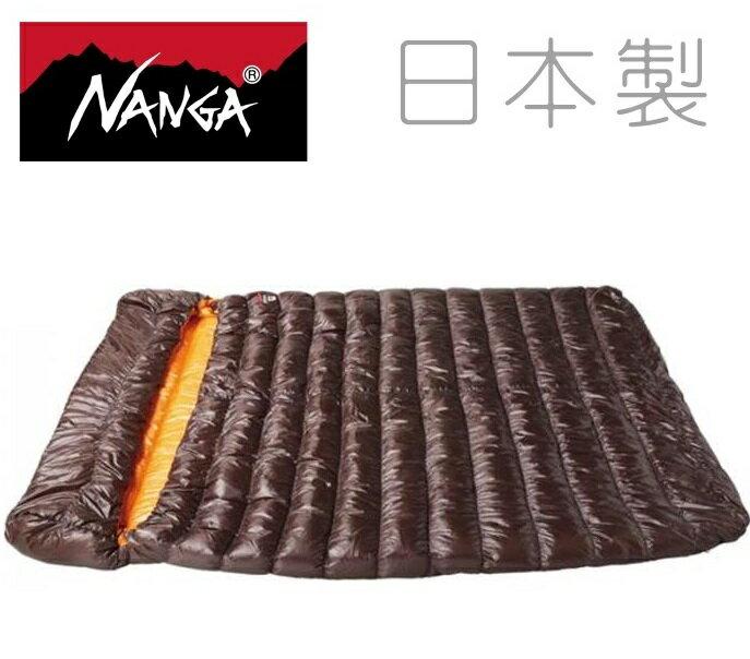 Nanga 日本製 羽絨睡袋 雙人睡袋/露營睡袋/羽絨被 RABAIMA Bag W 600 棕色 21660