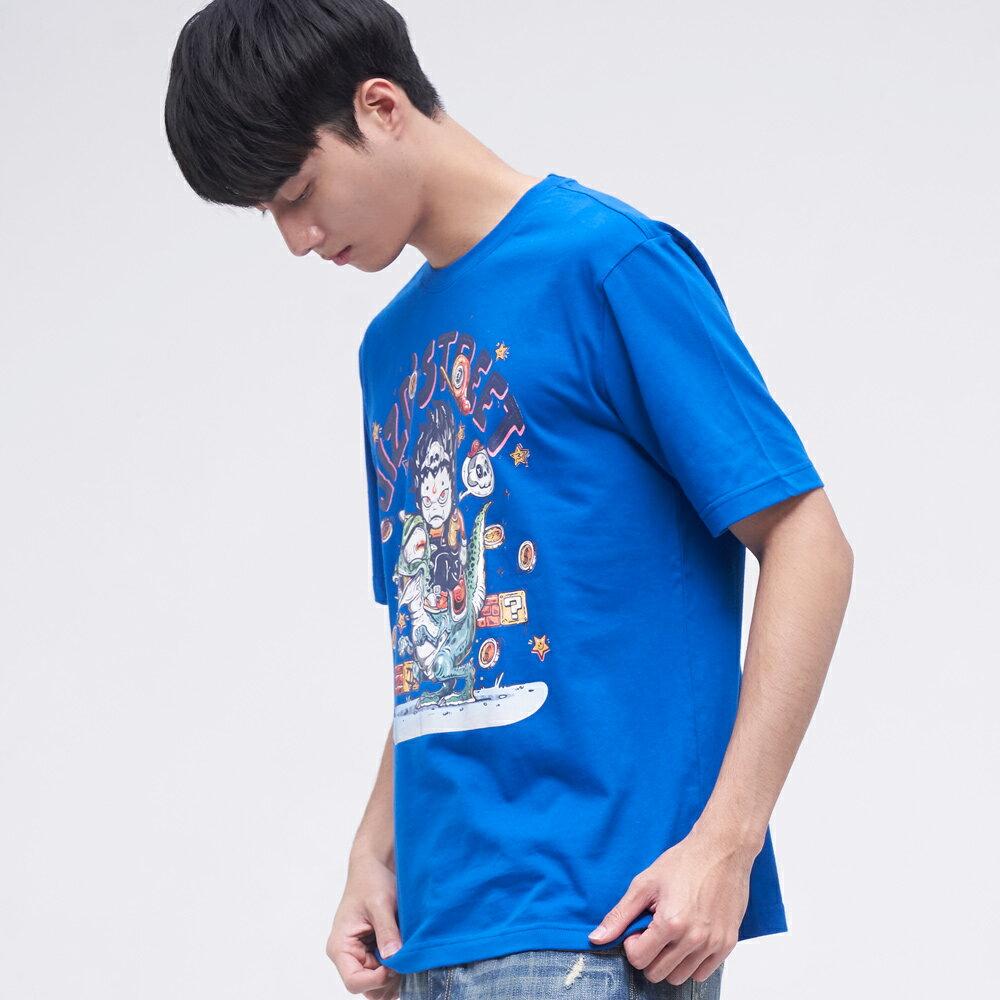 BLUE WAY   地藏小王  地藏擲金幣短TEE(寶藍) 1