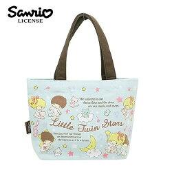粉綠款【日本進口】雙子星 KIKILALA 帆布 手提袋 便當袋 帆布包 三麗鷗 Sanrio - 439088