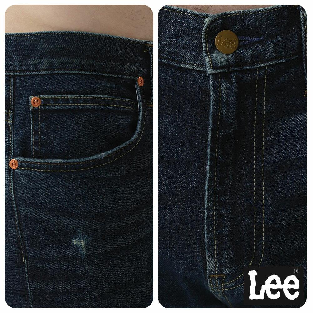 Lee 牛仔褲 731中腰舒適小直筒牛仔褲- 男款-深藍 8