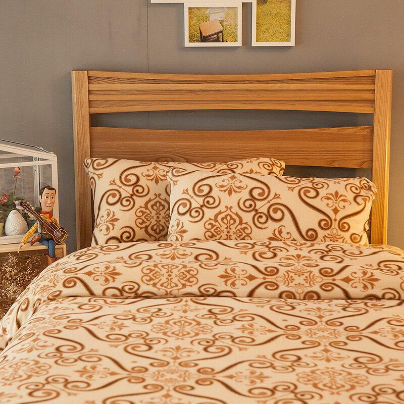 床包兩用毯組   雙人~暖呼呼搖粒絨~土耳其狂想曲~含兩件枕套,發熱保暖,戀家小舖, 製~