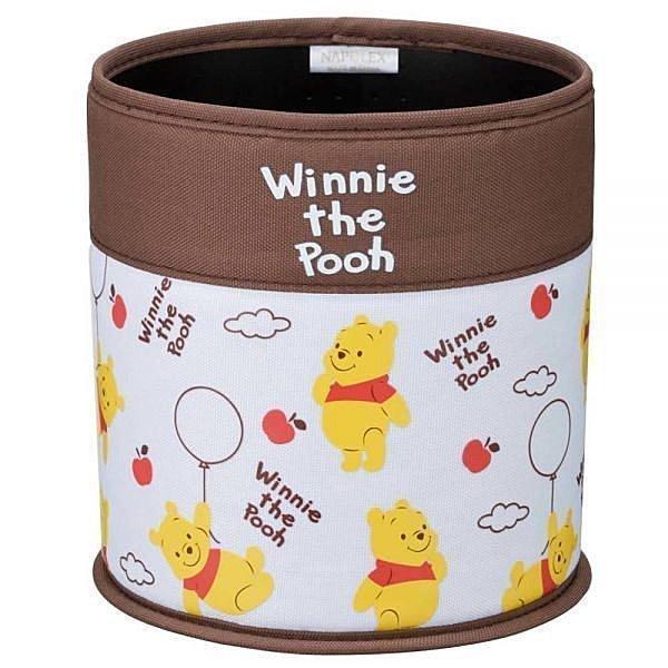 權世界@汽車用品 日本 NAPOLEX Disney Pooh 小熊維尼 圓型垃圾桶 PH-158