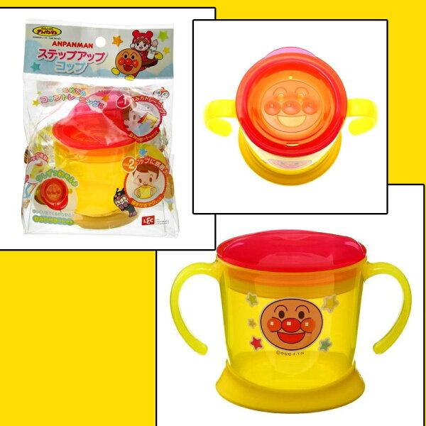 麵包超人 嬰幼童學習挑戰水杯 附把手 140ml 日本帶回正版商品