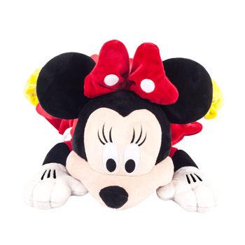**雙子俏媽咪親子館** 美國ZOOBIES X DISNEY 迪士尼多功能玩偶毯 / 毛毯 / 玩偶 / 抱枕 【正版授權】- 米妮 Minnie