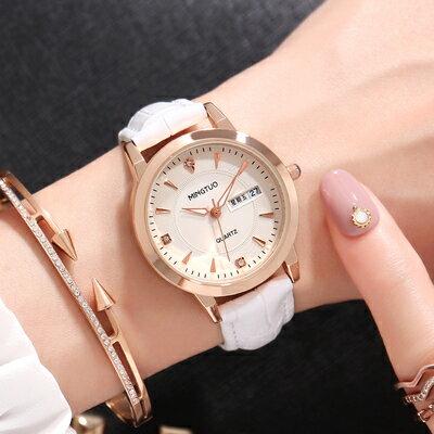 手錶新款女士手錶防水時尚潮流學生簡約大氣網紅鋼帶石英女表『XY2485』