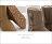 格子舖*【KDF6068】冬季嚴選厚毛料柔軟絨毛 防水皮革金屬拉鍊扣環 17CM中筒防滑膠底雪靴 雪地靴 3色 2