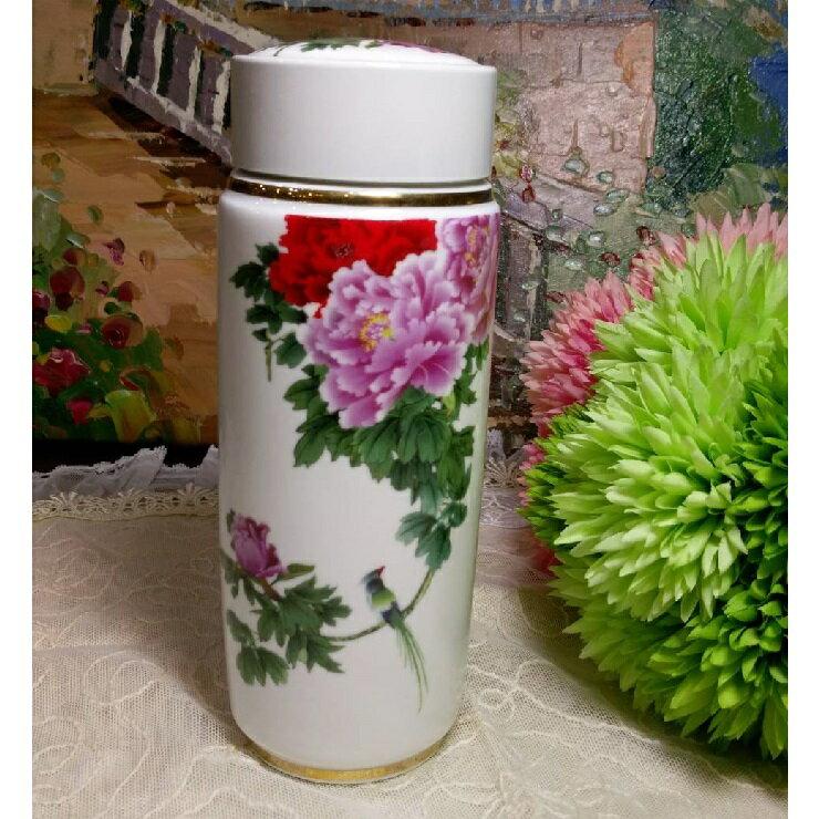 *朵菈傢飾* 新品-雙層陶瓷保溫瓶/隔熱雙層杯 杯口7cm 高18.5cm