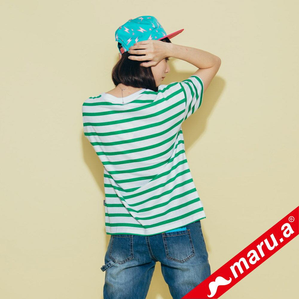 【maru.a】親子裝童趣感小飛象條紋T-Shirt(2色)8321228  /  8351221 2