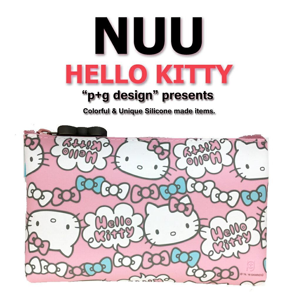 日本空運進口 p+g design NUU X HELLO KITTY 2016 繽紛矽膠拉鍊零錢包 - 粉色蝴蝶結款 0