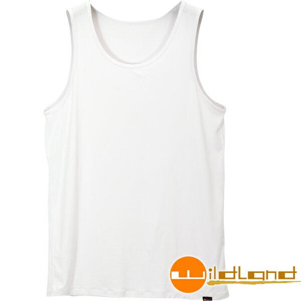 【【蘋果戶外】】荒野 W1688-30 白色 WildLand 男透氣排汗背心內衣 快乾內衣/居家睡衣/透氣運動背心/坦克背心