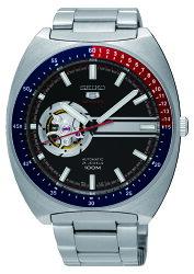 SEIKO 精工 5號尊者鏤空機械腕錶 霸氣黑 4R38-01K0D(SSA329J1) 44mm