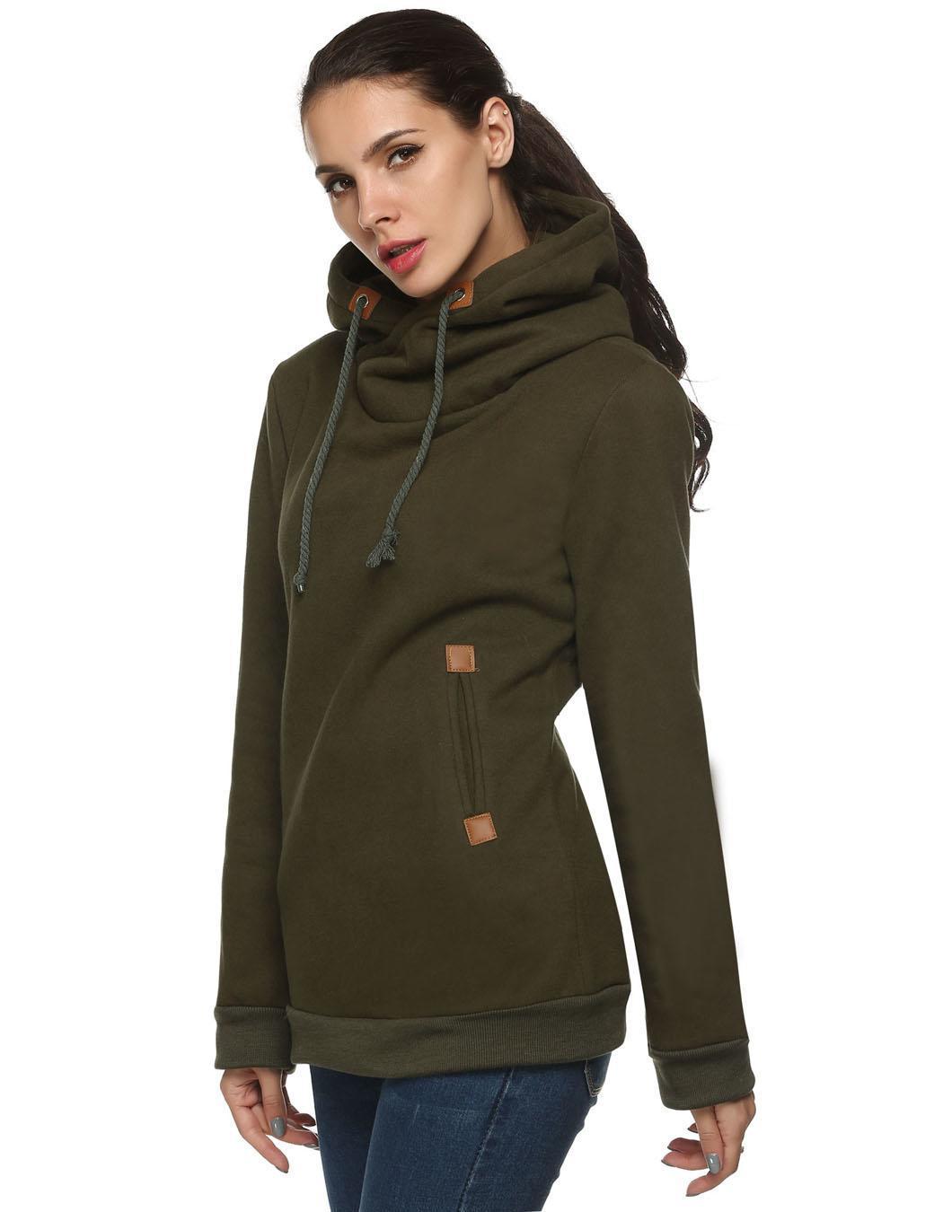 Women Long Sleeve Casual Pullover Hooded Sweatershirt Hoodies 3