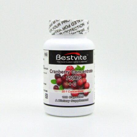 【小資屋】美國BestVite 必賜力高濃縮蔓越莓膠囊(100顆/瓶)有效日期2019.8