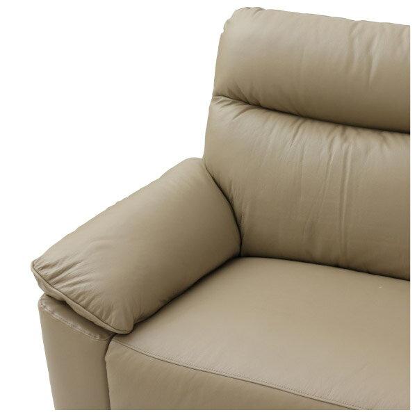 ◎(OUTLET)半皮3人用沙發 JADE MO 福利品 NITORI宜得利家居 2